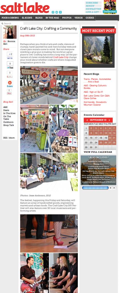 Crafting a community 2013